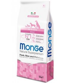 Monge Natural Superpremium Adult All Breeds Cane Secco Maiale Riso e Patate