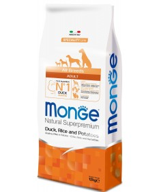 Monge Natural Superpremium per Cane Adult All Breeds con Anatra Riso e Patate