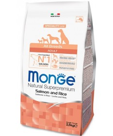 Monge Natural Superpremium Adult All Breeds Cane Secco Salmone e Riso