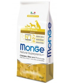 Monge Natural Superpremium per Cane Adult All Breeds con Pollo Riso e Patate