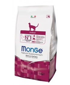 Monge Natural Superpremium Indoor Gatto Secco Ricco di Pollo