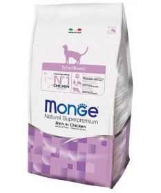 Monge Natural Superpremium per Gatto Sterilised Ricco di Pollo