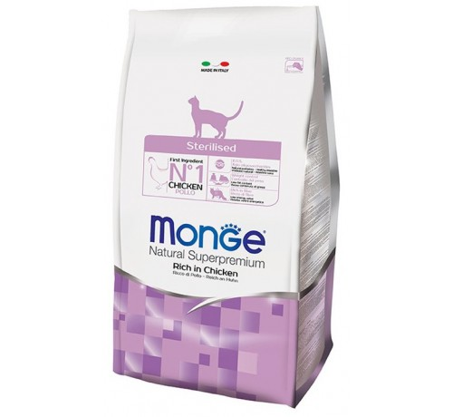 Monge Natural Superpremium Sterilised Gatto Secco Ricco di Pollo