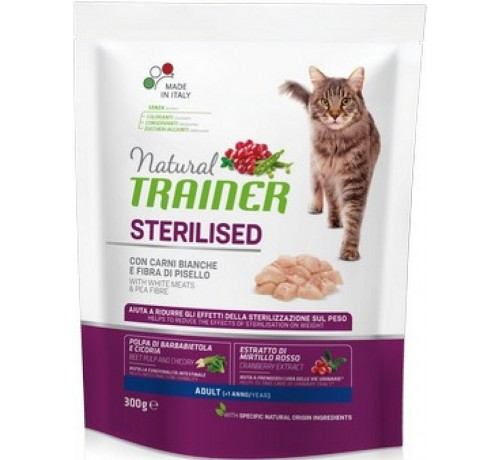 Trainer Natural Gatto Secco Adult Sterilised con Carni Bianche Fresche