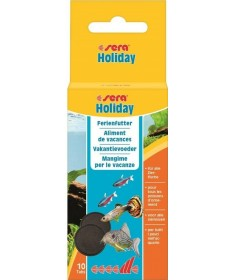 Sera Holiday Tabs 10 Pastiglie per Pesci