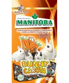 Manitoba Bunny Carota Alimento completo per Coniglietti e Adulti da 1 kg