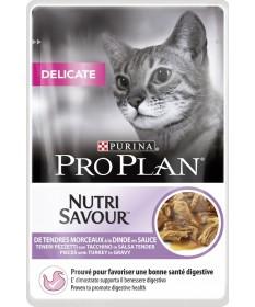 Pro Plan Delicate Nutrisavour in salsa con Tacchino 85gr