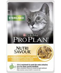 Pro Plan Nutrisavour per Gatto Sterilised con Pollo in salsa da 85gr