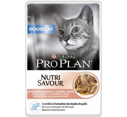 Pro Plan Housecat Nutrisavour in salsa con Salmone 85gr