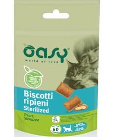 Oasy per Gatto Sterilized con Biscotti Ripieni da 60 gr