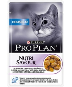 Pro Plan Housecat Nutrisavour in gelatina con Tacchino 85gr