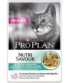 Pro Plan Delicate Nutrisavour in salsa con Pesce dell'Oceano 85gr