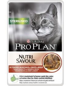 Pro Plan Sterilised Nutrisavour in salsa con Manzo 85gr