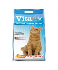 Giuntini Vita Day Croccantini per Gatti con Pesce e Verdure da 10 Kg