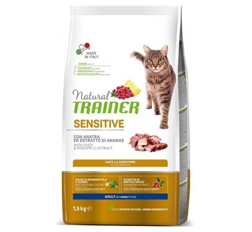 Trainer Solution per Gatto Adult Sensitive con Anatra
