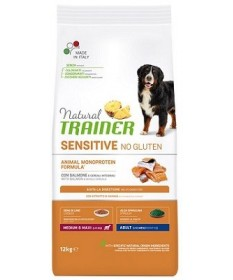 Trainer Natural Sensitive No Gluten per Cane Adult Medium/Maxi da 12 Kg