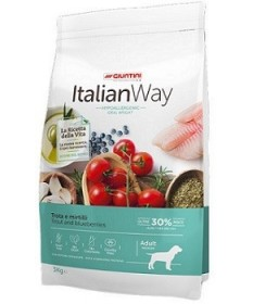 Italian Way Ideal Weight Hypoallergenic per Cane Adult Medium con Trota e Mirtilli da 3 kg