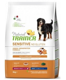 Trainer Natural Sensitive No Gluten per Cane Adult Medium/Maxi da 3 Kg
