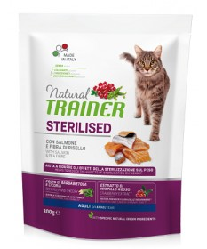 Trainer Natural per Gatto Adult Sterilised con Salmone