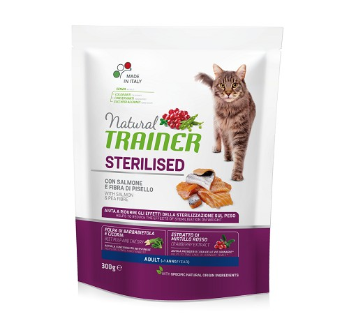 Trainer Natural Gatto Secco Adult Sterilised con Salmone