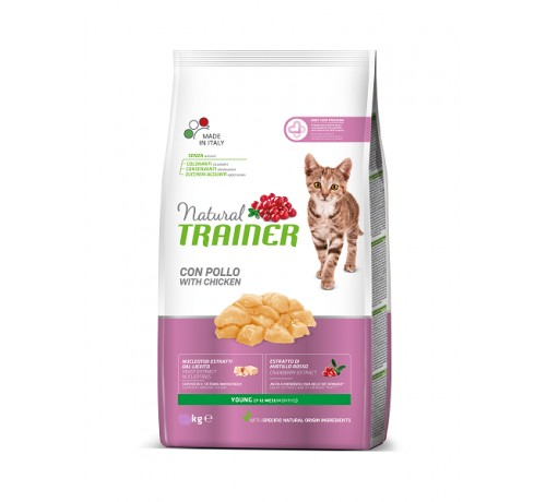 Trainer Natural Gatto Secco Young con Pollo Fresco
