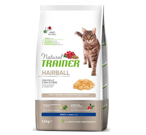 Trainer Solution Gatto Secco Adult Hairball con Pollo