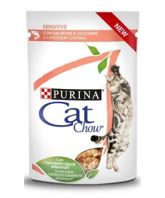 Cat Chow Sensitive con Salmone e Zucchine da 85 gr