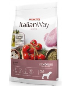 Giuntini Italian Way Sensitive per Cani Adulti Medium con Anatra da 12 Kg