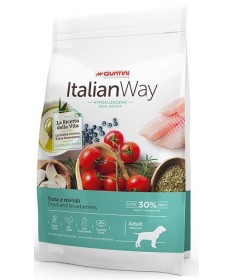 Giuntini Italian Way Hypoallergenic Ideal Weight per Cani Adulti Medium con Trota e Mirtilli da 12 Kg
