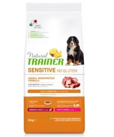 Trainer Natural Sensitive No Gluten per Cane Puppy Medium/Maxi con Anatra da 12 Kg
