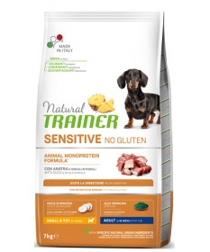 Natural Trainer Sensitive No Gluten per Cani Adulti di Taglia Piccola con Anatra da 7 Kg