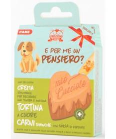 Comodis Tortina a Cuore con Crema Spalmabile per Cani Adulti gusto Carni Bianche