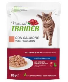 Trainer Natural Bocconcini al Salmone per Gatti Adulti Busta Multipack 4x85 gr