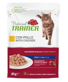 Trainer Natural Bocconcini al Pollo per Gatti Adulti Busta Multipack 4x85 gr