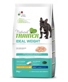 Trainer Natural Ideal Weight per Cani Adult Small con Carni Bianche da 2 Kg