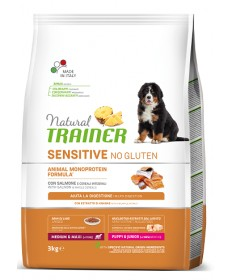 Trainer Natural Sensitive per Cani Puppy Medium/Maxi con Salmone da 3 Kg