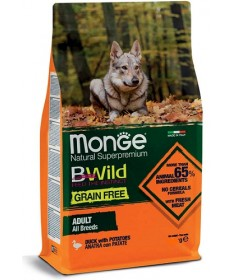 Monge Natural Superpremium BWild Grain Free per Cane Adult All Breeds con Anatra e Patate