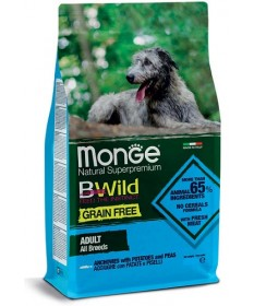 Monge Natural Superpremium Grain Free Adult All Breeds Cane Secco Acciughe e Piselli