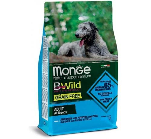 Monge Natural Superpremium Grain Free Adult All Breeds Cane Secco Acciughe e Piselli