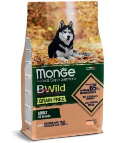 Monge Natural Superpremium BWild Grain Free per Cani Adulti All Breeds con Salmone e Piselli