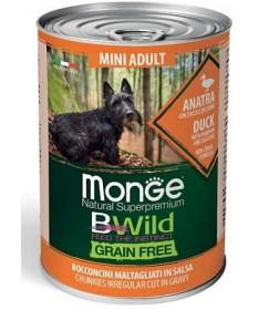 Monge Natural Superpremium BWild Grain Free per Cani Adult Mini con Anatra, Zucca e Zucchine da 400 gr