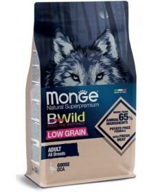 Monge Natural Superpremium Bwild Low Grain per Cani Adult All Breeds con Oca