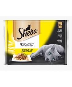 Sheba Delicatezze in Gelatina con Carne per Gatti da 4x85 mg