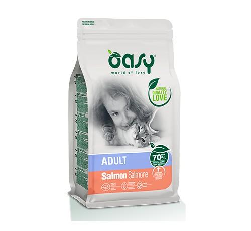 Oasy Gatto Secco Adult Salmone