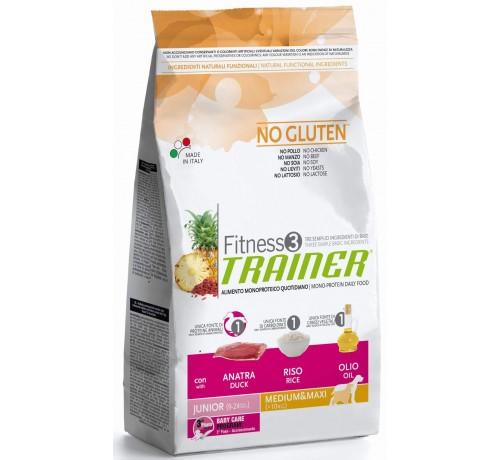 Trainer Fitness 3 Cane Secco Junior Medium e Maxi con Anatra e Riso