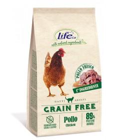 LifeCat Grain Free per Gatti Adulti con Pollo e Patate