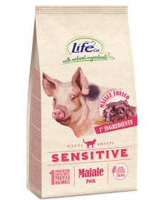 LifeCat Sensitive per Gatti Adulti con Maiale