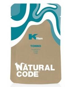 Natural Code per Gatti Kitten al Tonno da 70 gr