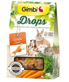 Gimbi Drops con Carota per Roditori da 50 gr